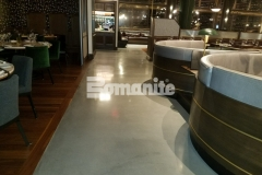 The Bomanite Modena SL Custom Polishing System was utilized here by our colleague, Beyond Concrete, to create the sleek and modern interior flooring at Angeline by Michael Symon that beautifully complements the mixed media used throughout the restaurant.