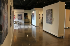 The Bomanite Patene Teres Custom Polishing System was used here to create this decorative concrete flooring and the luminous, sophisticated finish adds beautiful character and warmth to this gallery space.