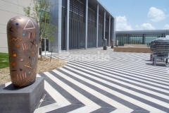 Musselman & Hall Contractors skillfully installed this Bomanite Sandscape Texture decorative concrete plaza, perfectly complementing the architecture of the Bartle Hall Convention Center and creating a beautiful, bold first impression for patrons and visitors.