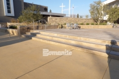Sandscape Texture by Bomanite was installed in this church courtyard to add cohesiveness across the campus while providing a hardscape surface that is durable and decorative.