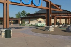 Musselman & Hall, LLC used their extensive design knowledge and top of the line Bomanite Sandscape Texture decorative concrete to create a paved hardscape surface while adding a warm, welcoming feel and giving new life to the Kansas City Zoo entrance.