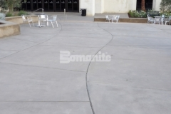 Bomanite Sandscape Refined Antico was installed in this church courtyard to create a durable and decorative concrete hardscape with a contemporary design feel that blends perfectly with the surrounding architecture and landscape.